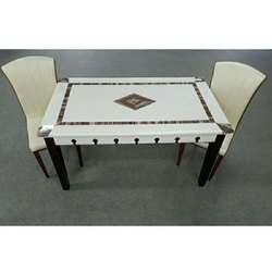 Modern Rectangular Marble Top Dining Table 2 Chair 1 Table Rs 25000 Set Id 20575763355