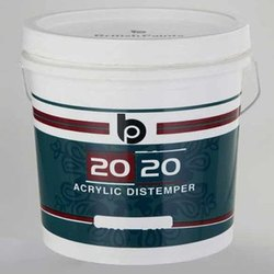 British Paints High Gloss 20-20 Acrylic Distemper Paints, Packaging Type: Bucket, Pack Size: 20 Liter