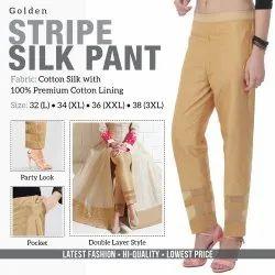Bottom Wear Stripe Silk Pant