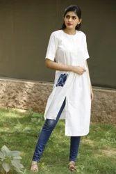 Cotton Slub Kurti With Pocket