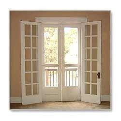 Off-White UPVC French Door