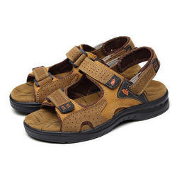 Leather Brown Mens Sandal