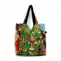 Roopantaran Multicolor Banjara Cotton Jhola Bag