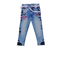 Denim Party Wear Girls Kids Jeans