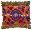 Indian Embroidered Cushion Cover Suzani Pillowcases