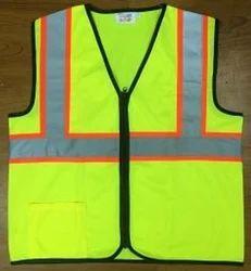 Polyester Male Reflective Safety Trims Jacket