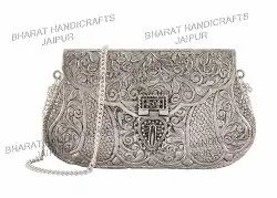 Silver Plated Metal Antique Purse