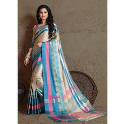 ST Namo Ladies Synthetic Mix Fancy Saree, With Blouse Piece