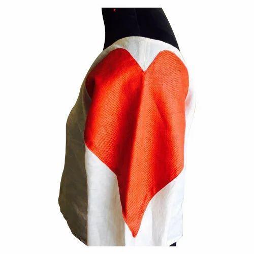 1af755c7c136a0 Off White And Orange 30ML Linen Off Shoulder Top