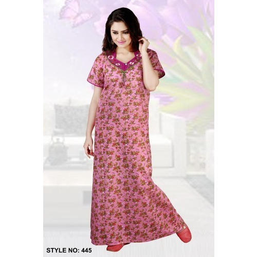 88a9197f3d Cotton Half Sleeves Printed Nighty