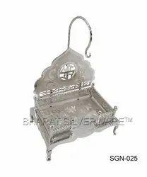 Pure Silver Swastik Singhasan
