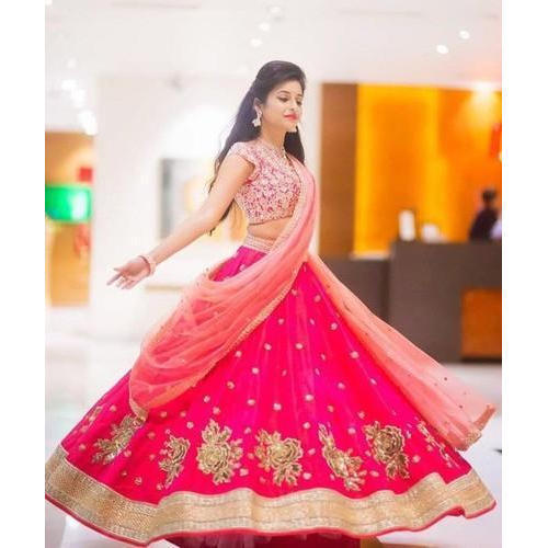 Pink Party Wear Lehenga Choli Rs 3500 Piece Mantra Fashions Id