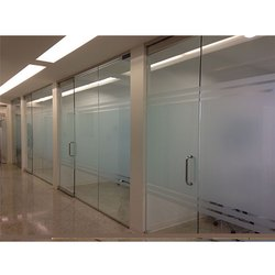 Toughened Glass Wall Partition