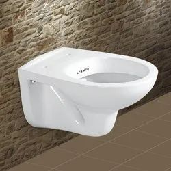 Acravit White Jennet Wall Hung Toilet Seat, For Home,Hotel, 370 X 560 X 400 Mm