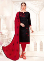 Glace Cotton Ladies Churidar Suits Collection