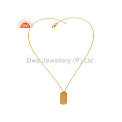 Designer Gold Plated Silver Chain Pendant