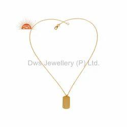 Designer Gold Plated Silver Chain Pendant