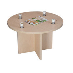 Wood Round Brown Cafeteria Table