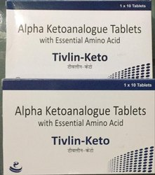 Tivlin-Keto Alpha Ketoanalogue Tablet, Packaging Type: Box, Packaging Size: 1 X 10 Tablets