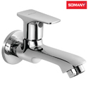 Stainless Steel Somany Olive Long Nose Bib Cock With Wall Flange
