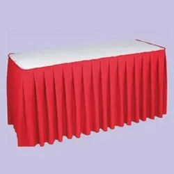 White,Red Banquet Cotton Table Linen