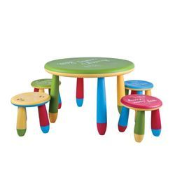 Cartoon Round Chair - Table