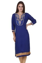 Ladies Blue Casual Kurti