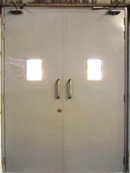 Commercial Steel Door, Thickness: 45 mm