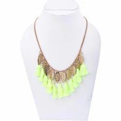 Green Tassels Necklace