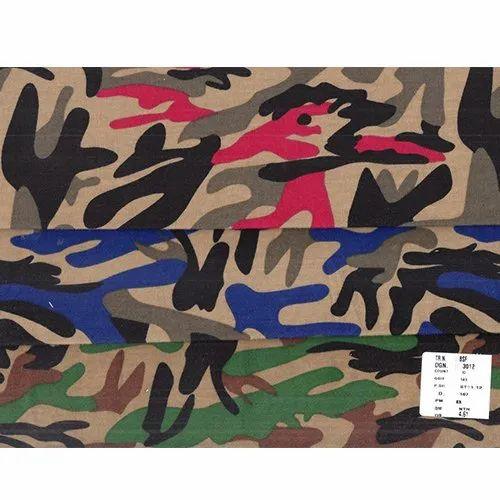 BSF Hosiery Multi Color Printed Fabric