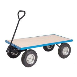 Mild Steel 4 Platform Trolley With Scooter Wheel, For Industrial, Load Capacity: 100 Kg