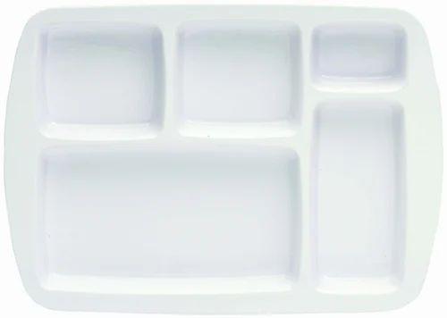 Melamine White Food Tray