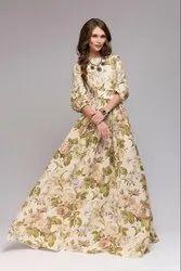 Msalin Cotton Green Gown