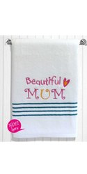 Eiffel Textiles Cotton Birthday Gift Embroidery Towel, For Gifting