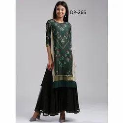 Western Style Silk Short Kurti