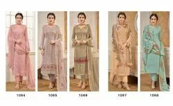 Multicolor Georgette Latest Embroidery Work Salwar Suit