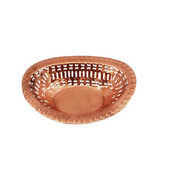 Oval Copper Chapati Basket