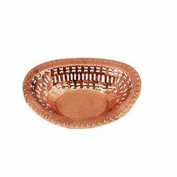 Oval Copper Chapati Basket
