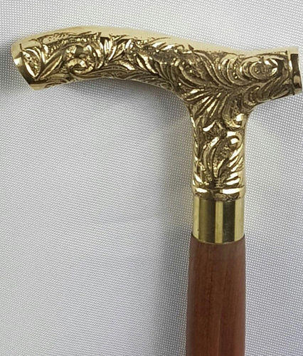 New Golden Brass Victorian head Handle for Shaft Walking Stick Cane Antique gift