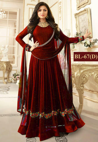 f26f4c222 Georgette Embroidery Wedding Anarkali Salwar Suit