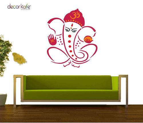 multiple decor kafe beautiful multicolour god ganesha wall stickers