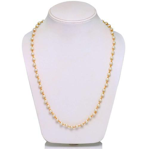 7b0230f3d97 Ankur Cluster Gold Plated White Beads Necklace For Women