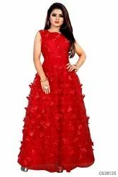Fancy Net Embroidered Designer Gown