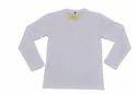 Namakool Plain Men's Full Sleeve White T-shirt