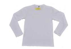 White Xl And Medium Plain Men's Full Sleeve T-shirt