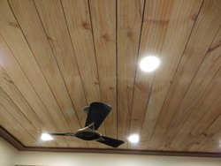 Wooden Ceiling With Melamine Polish