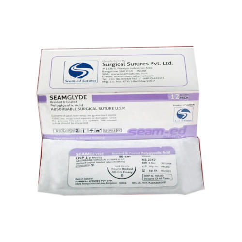 Seamglyde Braided and Coated Polyglycolic Acid Suture