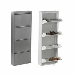Stainless Steel Silver Shoe Racks, 5, Shoe Rack Capacity: 12 Pairs