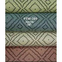 For Garments Designer Printed Rayon Fabric