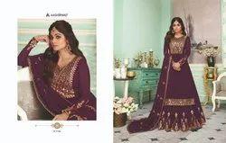 Georgette Gota Pati Collection Samaya By Aashirwad Creation Bridal Suit, Dry Clean